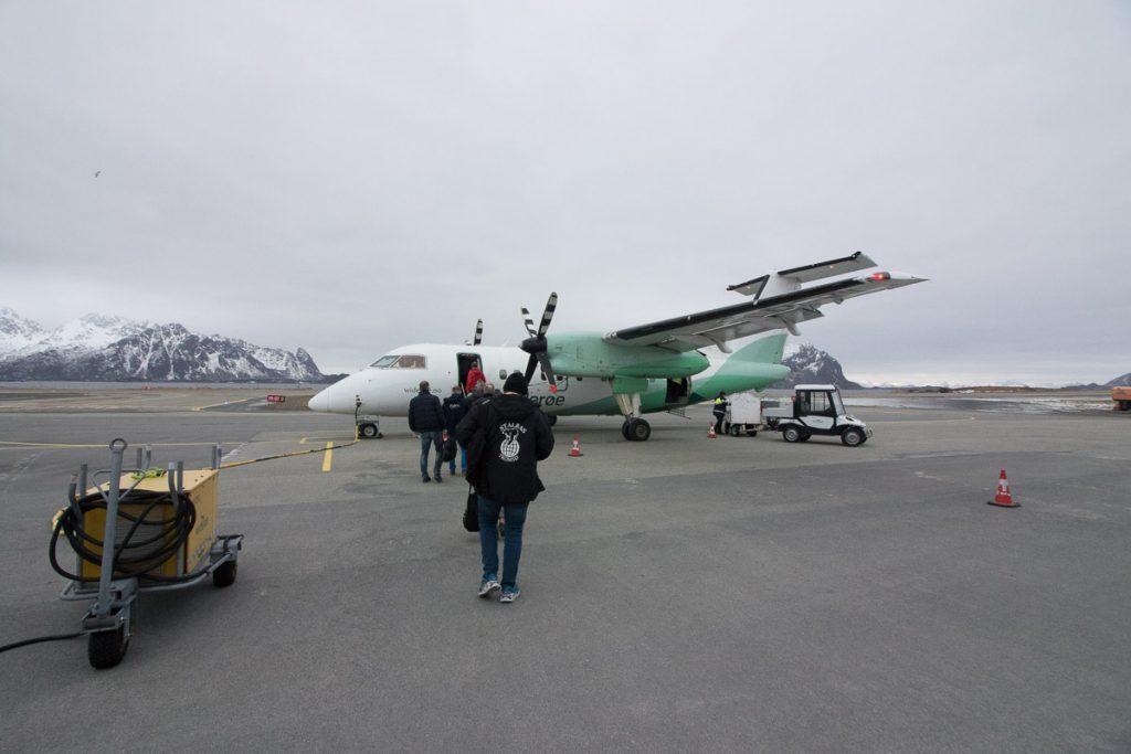 Vliegreis naar Lofoten, Noorwegen