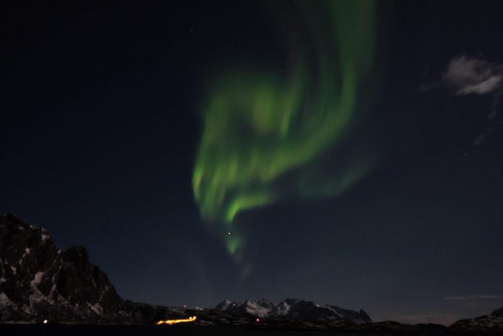 Op Noorderlicht jagen in Noorwegen