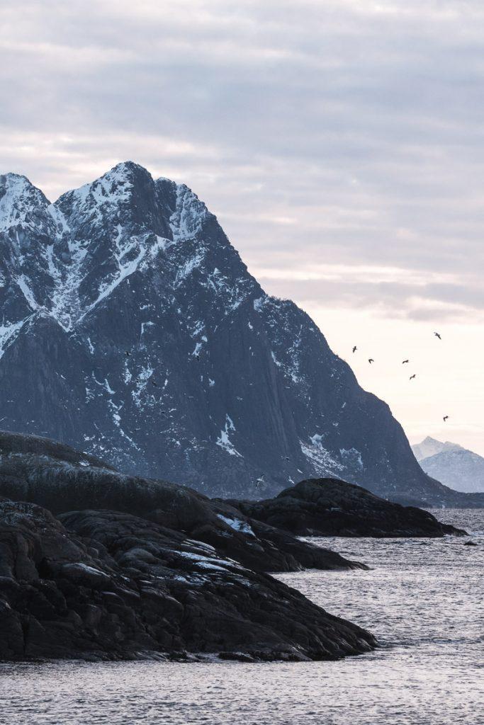 Vissersdorp Svolvaer, Noorwegen