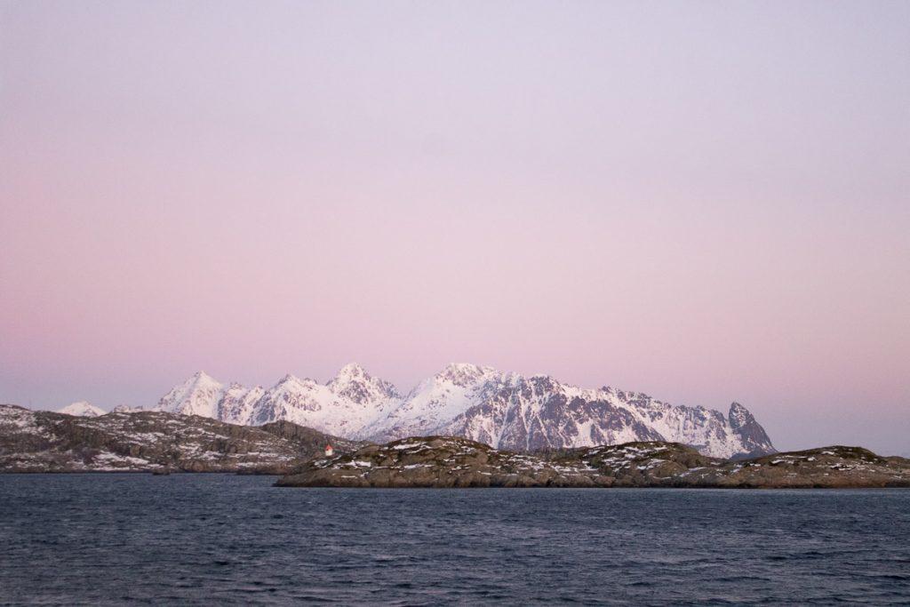 Uitzicht over zee, Noorwegen