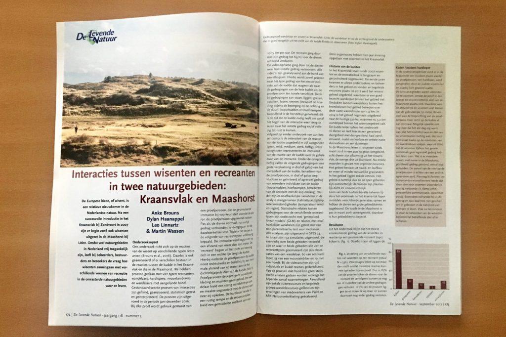 Ecologisch onderzoek gepubliceerd tijdschrift natuurbeheer en natuurbehoud