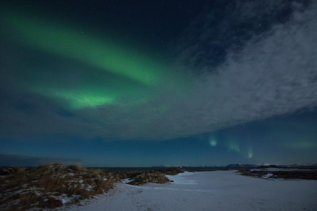 Noorderlicht fotograferen vanuit Svolvaer