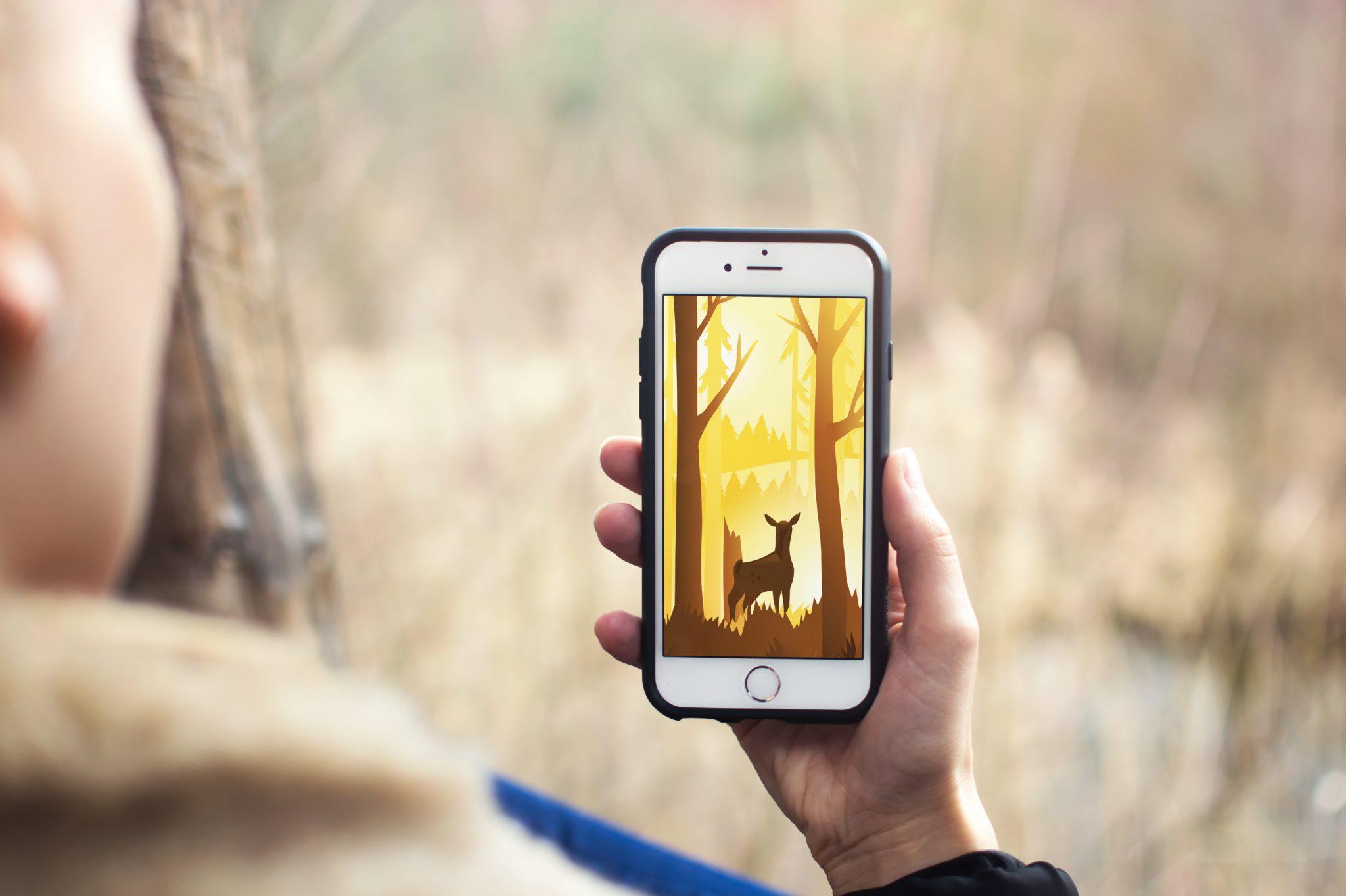 Natuurgeluiden in een app