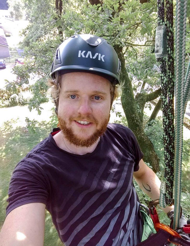 Als ecoloog bomen klimmen