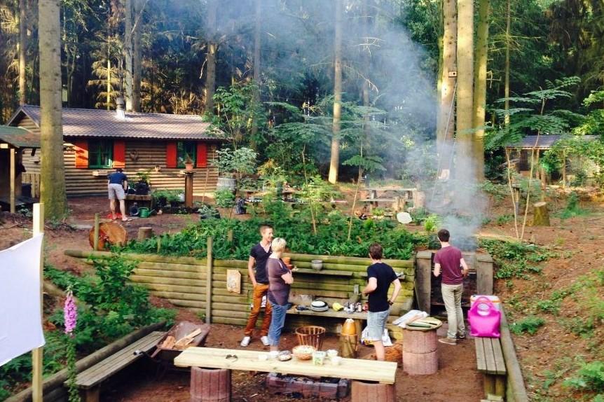 Natuurhuisje met houtkachel in bos