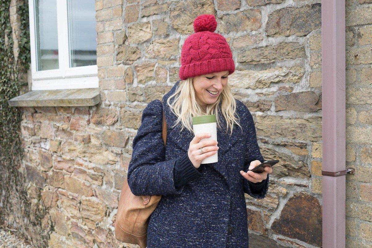 Herbruikbare gerecyclede koffiebeker to go